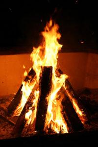 fire starting teepee
